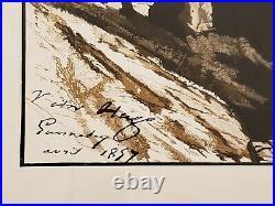 Victor Hugo Lithographie originale rare -1857 Ile de Guernesey