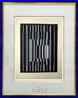 Victor Vasarely (1906-1997) Ancienne Lithographie Cynetique Denise Rene (1)