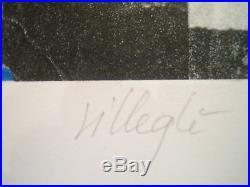 Villegle Jacques Lithographie Originale 50 Rue Turbigo