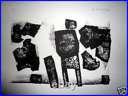 WITOLD K Lithographie signée et numérotée 1967 art abstrait Pologne Abstraction