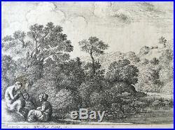 W. HOLLAR Satyre et deux nymphes 1646 Eau-forte originale
