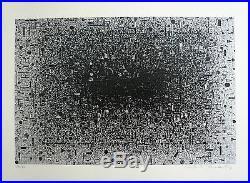 Xenakis Contantin Sérigraphie originale signée abstraction art abstrait