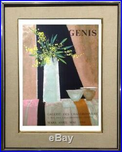(coll. Maurice Genis) Affiche Lithographie Rene Genis Galerie 1984